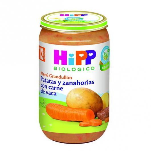 Potito Biológico menú Patata Zanahoria y Carne 12 M HiPP, 250 g