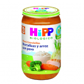 HiPP 12mnths organic veg, rice & turkey 250g