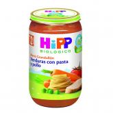 Boião biológico menú verdura, massa e frango 12 M Hipp, 250 g