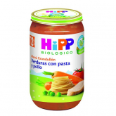 Omogeneizzato Biologico menú Verdura Pasta e Pollo 12 M Hipp, 250 g
