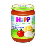 Boião biológico menú menú spaguetti tomate mozzarela 8 M Hipp, 250 g