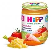 Potito Biológico menú Verdura Pasta y Jamón 8 M HiPP, 190 g