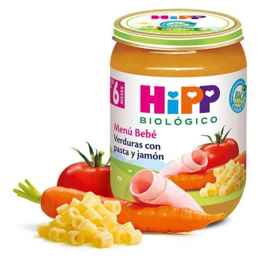 Petit Pot Bio Menu Bébé Légumes, Pâtes et Jambon (6 mois) HIPP, 190 g