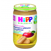 HiPP 4mths bisuit, apple & banana babyfood 250g