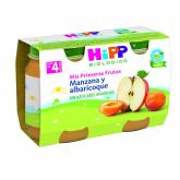 Boião biológico abricó e maçã 4M Hipp, 2 x 125 g