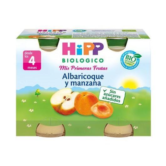 Potito Biológico Albaricoque y Manzana 4M HiPP, 2 x 125 g
