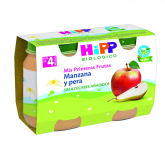 HiPP organic apple & pear 4mths 2 x 125g