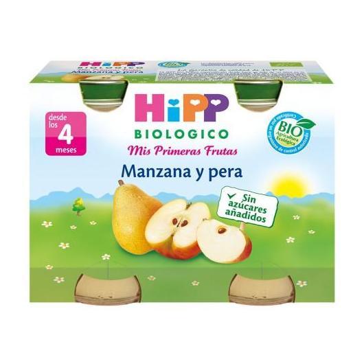 Petit Pot Bio Pommes et Poires (4 mois) HIPP, 2 x 125 g