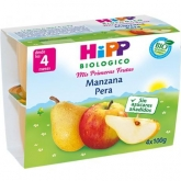 HiPP 4mths FruitPause apple & pear organic babyfood 4 x 100g