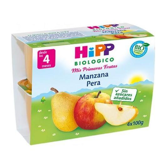 Petit Pot Bio Pommes et Poires (4 mois) HIPP, 4 x 100 g