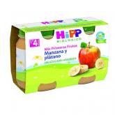 Boião biológico maçã e banana 4M Hipp, 2 x 125 g