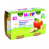 Omogeneizzato Biologico Mela e Banana 4M Hipp, 2 x 125 g