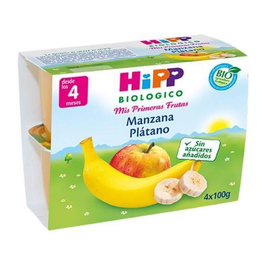 Omogeneizzato Biologico FrutaPause Mela e Banana 4M Hipp, 4 x 100 g