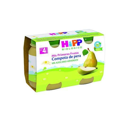 Petit Pot Bio Compote de Poires (4 mois) HIPP, 2 x 125 g
