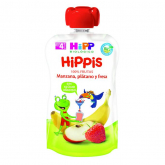 HiPP organic apple, banana & strawberry babyfood 90g
