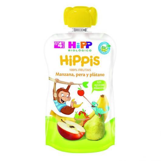 Bolsitas Biológicas Manzana Pera y Plátano HiPP, 90 g