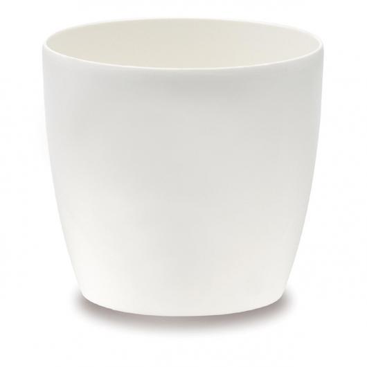 Pot Brussels Round avec Roues Blanc Elho