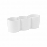 Vaso alto B.for diamond cacto trio branco