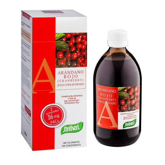 Mirtillo rosso concentrato Santiveri, 490 ml