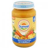 Boião verduras e carne Sunval, 190 g