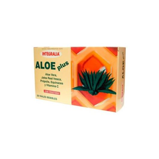 Jalea Real Aloe Plus Fructosa Integralia, 20 ampollas