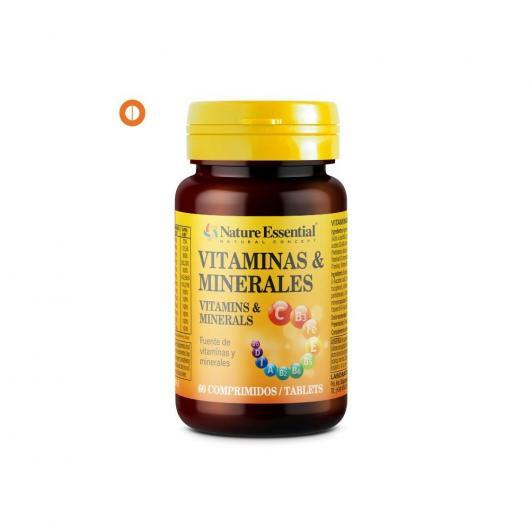 Vitaminas y Minerales 600 mg Nature Essential, 60 tabletas