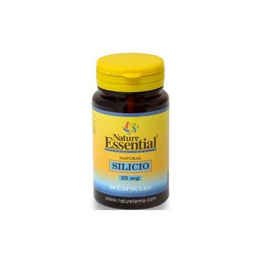 Silicio 25 mg Natural essential, 50 Capsulas