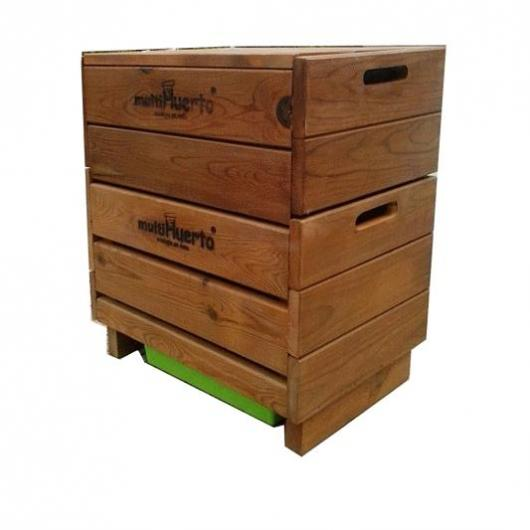 Vermicompostatore in legno completo Multiorto