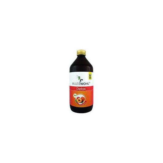 Detox melocotón zumo bio Raab, 500 ml