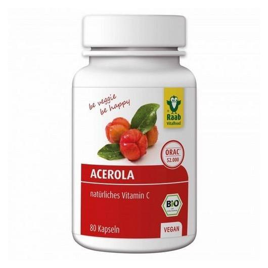Acerola 500 mg bio Raab, 80 cápsulas