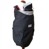 Cobertor para porta-bebés 4 estações, Deluxe, Preto