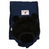 Cobertor porta-bebés Winter, azul e preto