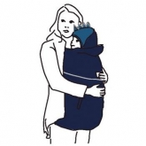 Cobertor porta-bebés Winter, azul e pacífico