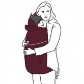 Cobertor porta-bebés Winter, bordeaux e cinzento
