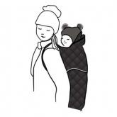 Cobertor porta-bebés Winter, preto acolchoado