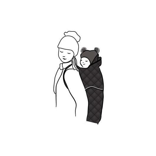 Cobertor para portabebés Winter, negro acolchado