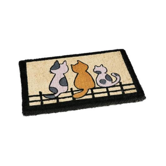 Zerbino gatti sul recinto