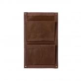 Vaso balcão textil 2 bolsas, chocolate