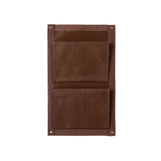 Maceta balcón textil 2 bolsillos, chocolate