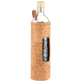 Botella de vidrio funda tela de corcho Flaska