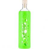 Botella de vidrio funda silicona verde 500 ml, Flaska