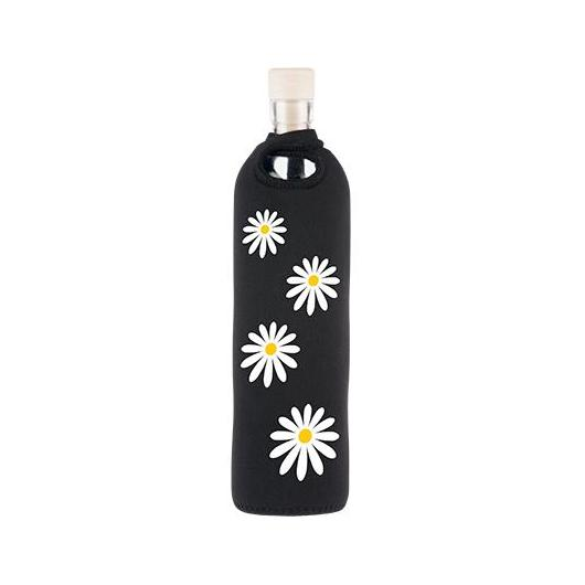 Botella de vidrio funda neopreno margaritas Flaska