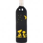 Botella de vidrio funda neopreno noche Flaska