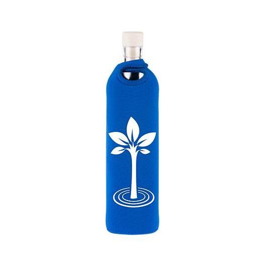 Botella de vidrio funda neopreno árbol Flaska