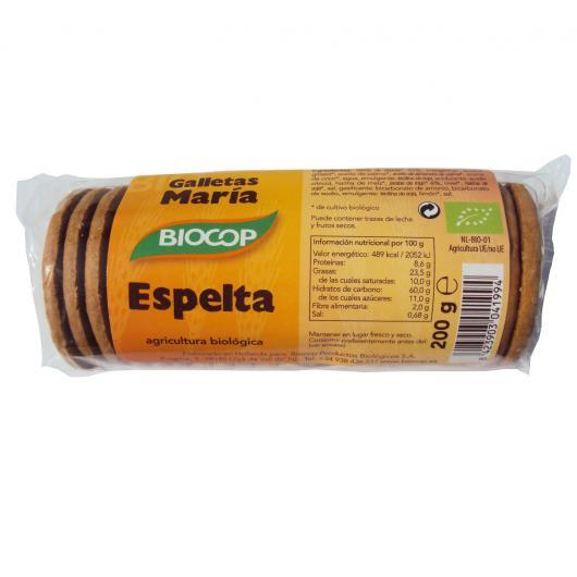 GALLETA MARÍA ESPELTA BIOCOP, 200 G