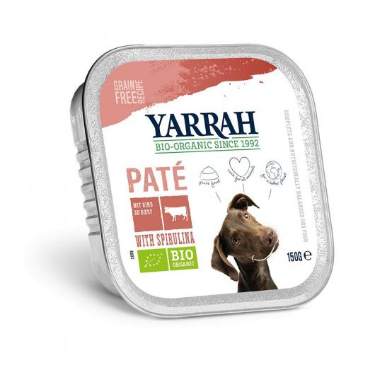Terrina per cani con vitello e spirulina Yarrah, 150 g