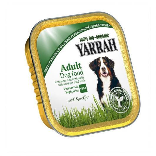 Terrina per cani vegetariana con rosa canina Yarrah, 150 g