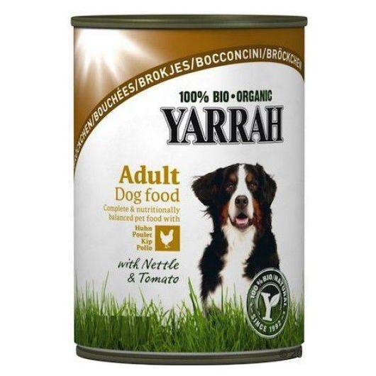 Bocconcini di pollo in barattolo per cani, Yarrah, 800 g