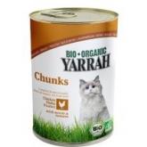 Trocitos de pollo en lata para gatos Yarrah, 400 g
