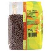 Arroz inflado chocolateado para el desayuno Biospirit, 200 g